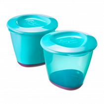 Explora Storage Pots 2X 4oz  - Green