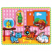 Extra-thick Wooden Puzzle - Pets