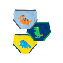 3 Piece Organic Potty Training Pants Set - Boys - Jurassic Pals