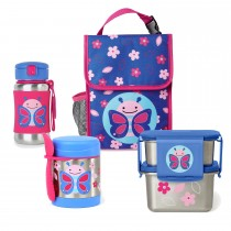 Zoo Stainless Steel Lunch Bundle - Butterfly