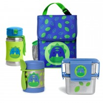Zoo Stainless Steel Lunch Bundle  - Dino