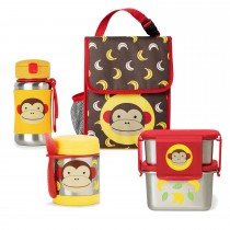 Zoo Stainless Steel Lunch Bundle  - Monkey