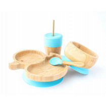 Duck Plate, Straw Cup, Bowl & Spoon combo in Blue