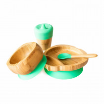 Ladybird Plate, Feeder Cup, Bowl & Spoon combo in Green
