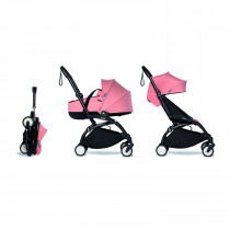 Complete BABYZEN stroller YOYO2 FRAME Black &  0+ newborn pack Ginger and 6+ color pack