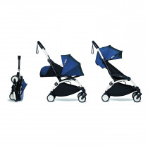complete BABYZEN stroller YOYO2 0+ and 6+  White Frame & Air France Blue