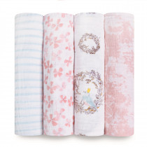 Classic 4-Pack Swaddles Birdsong