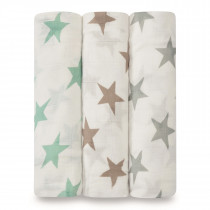 Silky Soft 3-Pack Swaddles Milky Way