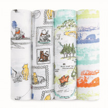 Classic 4-Pack Disney Swaddles - Winnie the Pooh