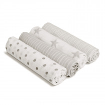 Essentials 4 Pack Classic Muslin Swaddles - Dusty