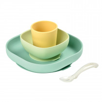 Silicone Meal Set of 4-Yellow
