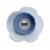 Lotus Multi-Functional Bath Thermometer - Grey/Blue