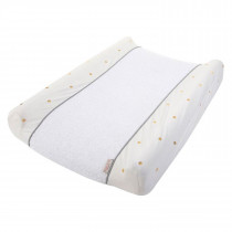 Changing Table - Changing Cushion Cover  - Jersey Gold Dots