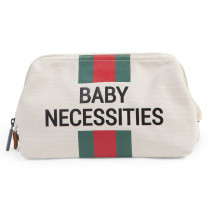 Baby Necessities - Off White Stripes Green/Red