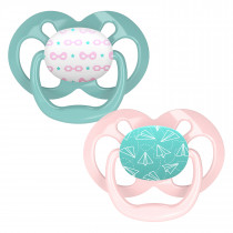 Advantage Pacifier - Stage 2, Pink Airplanes, 2-Pack