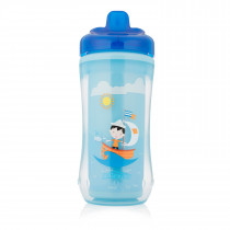 10oz Hard-Spout Insulated Cup - Blue Sailboat (Stage 3: 12m+)