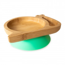 Snail Plate with suction base - Green