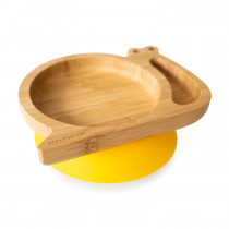 Snail Plate with suction base - Yellow