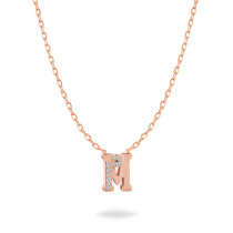 Baby Initial Pendant Letter M, م