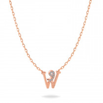 Baby Initial Pendant  Letter W, و