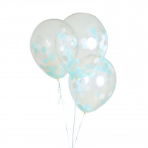 "Balloonfetti Baby Shower - Boy - 18"" 3 balloons"
