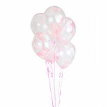 "Balloonfetti Baby Shower - Girl - 11""x 5 balloons"