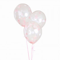 "Balloonfetti Baby Shower - Girl -  18"" 3 balloons"