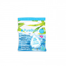 Pureborn Organic Cotton & Chamomile Travel Wipes 10sx8 Pck