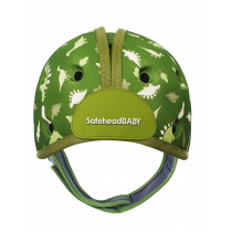 Soft Helmet For Babies Learning To Walk - Dino Green