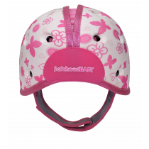 Soft Helmet For Babies Learning To Walk - Butterfly Heart Pink