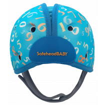 Soft Helmet For Babies Learning To Walk - Numbers Blue