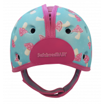 Soft Helmet For Babies Learning To Walk - Mushroom Mint