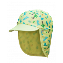 Jona Upf 50+ Sun Protection Flap Caps - Dino Yellow