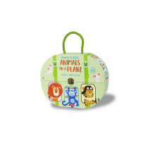 Travel Puzzle Animals -On A Plane