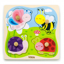 Big Wooden Knob Puzzle - Insect