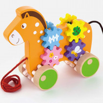 Pull Along Horse with Gears