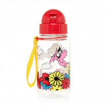 Drinking Bottle with Straw − Floral Brights