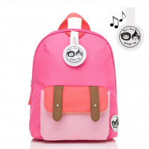 Mini Backpack+ Safety Harness − Hot Pink Color Block