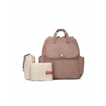 Robyn Convertible Diaper Bag Vegan Leather -Dusty Pink