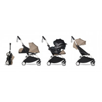 all-in-one BABYZEN stroller YOYO2 0+, car seat and 6+ White Frame & Taupe