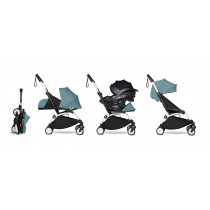 all-in-one BABYZEN stroller YOYO2 0+, car seat and 6+ White Frame & Aqua