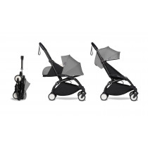 complete BABYZEN stroller YOYO2 0+ and 6+  Black Frame & Grey