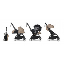 all-in-one BABYZEN stroller YOYO2 0+, car seat and 6+ Black Frame & Taupe