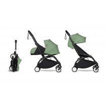 complete BABYZEN stroller YOYO2 0+ and 6+  Black Frame & Peppermint