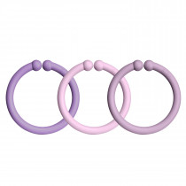 Bibs Loops 0-3 Years - 12 Multi Color Play Rings - Lavender / Baby Pink / Heather