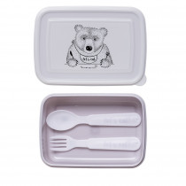 Lunchbox with Cutlery - Purple