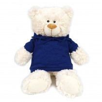 Teddy Cream with Blue Hoodie
