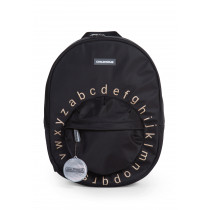 Kids School Backpack ABC  Black Gold