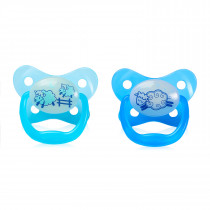 PreVent Glow in the Dark BUTTERFLY SHIELD Pacifier, Stage 1 0-6M - Blue, 2-Pack