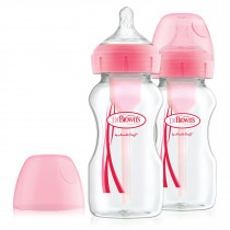 9oz/270 ml PP Wide-Neck Options+ Bottle, PINK, 2-Pack